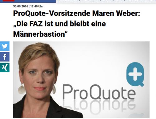 Vorsitzende Maren Weber im Meedia-Interview